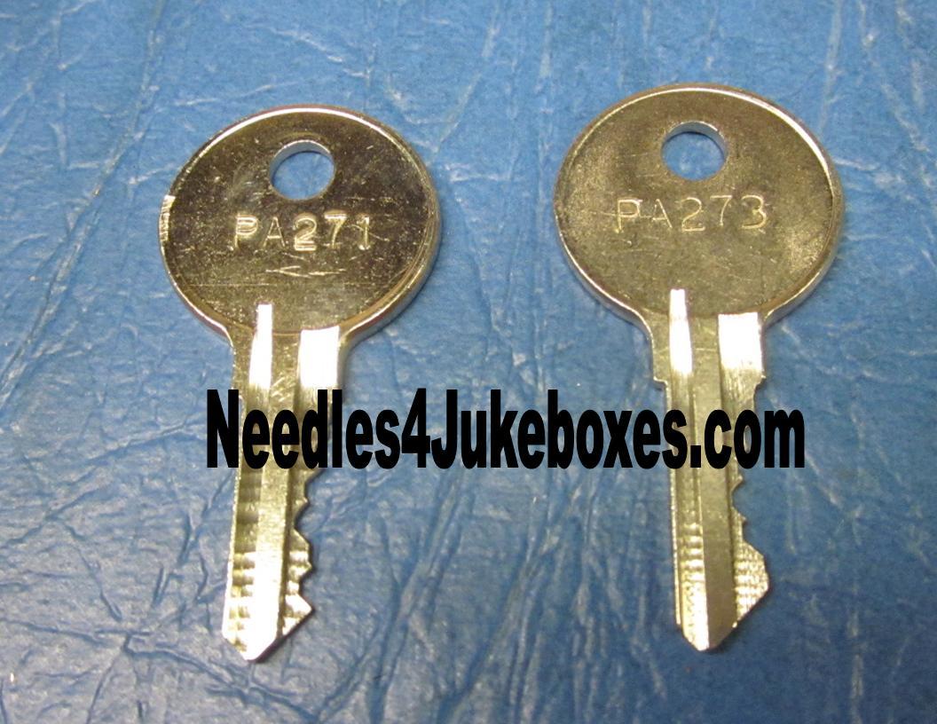 front door keyNeed a Key for your Wurlitzer Jukebox